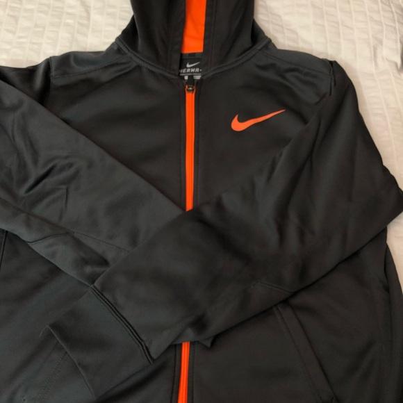 Nike Full Zip Hoodie black and orange